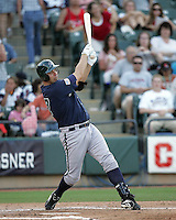 New Orleans Zephyrs OF Valentino Pascucci on Sunday June 1st at Dell Diamond in Round Rock, Texas. Photo by Andrew Woolley / Four Seam Images..