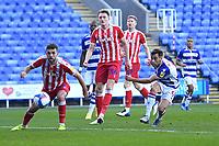 Sam Baldock of Reading right has a shot on goal during Reading vs Stoke City, Sky Bet EFL Championship Football at the Madejski Stadium on 7th November 2020