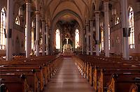 Iowa, Dyersville, interior of Saint Francis Xavier Basilica in Dyersville.