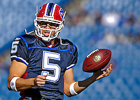 21 October 2007: Buffalo Bills quarterback Trent Edwards warms up prior to a game between the Bills and the visiting Baltimore Ravens at Ralph Wilson Stadium in Orchard Park, NY. The Bills defeated the Ravens 19-14 in front of 70,727 fans marking their second win of the 2007 season...Mandatory Photo Credit: Ed Wolfstein Photo