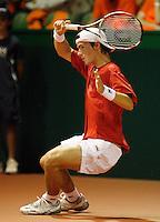 21-9-07, Netherlands, Rotterdam, Daviscup NL-Portugal, Gastao Elias
