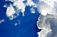 Sunbeams and clouds on blue sky (Licence this image exclusively with Getty: http://www.gettyimages.com/detail/107102165 )