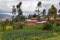 Peru, Urubamba Valley, Quechua Village of Misminay.
