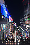 Asia, Japan, Tokyo, Ginza,  4 Chome Zoom Blur