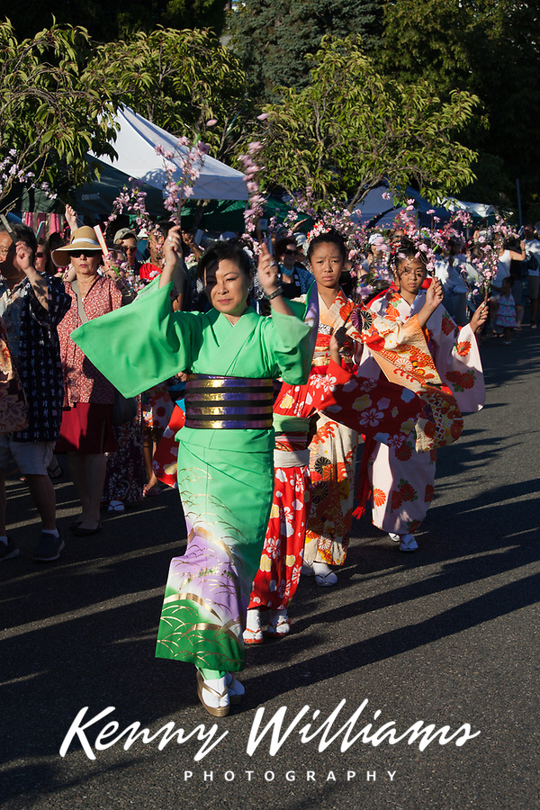 Mother & Daughters, Cherry Blossom Dance, Bon Odori Festival 2015, Seattle, WA, USA.