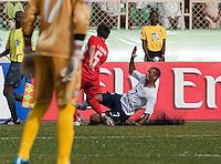 Stefan Jerome slides on the play. US Under-17 Men's National Team defeated United Arab Emirates 1-0 at Gateway International  Stadium in Ijebu-Ode, Nigeria on November 1, 2009.