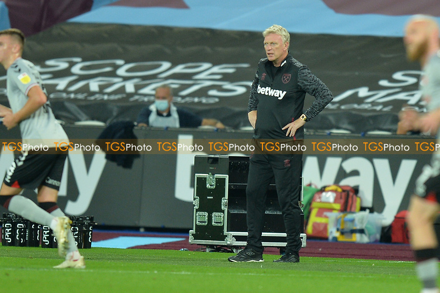 West Ham Manager David Moyes during West Ham United vs Charlton Athletic, Caraboa Cup Football at The London Stadium on 15th September 2020
