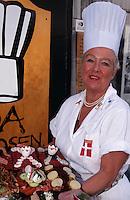 Daenemark, Kopenhagen, Ida Davidsen in Ihrem Frokostlokal