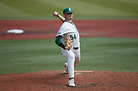 Charlotte 49ers relief pitcher Spencer Giesting (54) in action against the Old Dominion Monarchs at Hayes Stadium on April 23, 2021 in Charlotte, North Carolina. (Brian Westerholt/Four Seam Images)