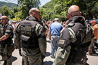 WV State Police Protection, mountaintop removal mining protest