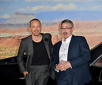 """LOS ANGELES, USA. October 08, 2019: Aaron Paul & Vince Gilligan at the premiere of """"El Camino: A Breaking Bad Movie"""" at the Regency Village Theatre.<br /> Picture: Paul Smith/Featureflash"""
