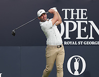 13th July 2021; The Royal St. George's Golf Club, Sandwich, Kent, England; The 149th Open Golf Championship, practice day; Paul Casey (ENG) hits his tee shot on the opening hole