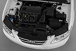 High angle engine detail of a 2010 Hyundai Sonata GLS .