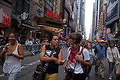 New York, New York<br /> September 21, 2014<br /> <br /> The People's Climate March in New York City before the United Nations summit meeting this week expected to create a framework for a potential global agreement on emissions late next year in Paris.<br /> <br /> Organizers estimate that as many as 310,000 demonstrators turned out for the march. <br /> <br /> Activist, environmentalist, economist, and writer of Anishinaabe, native American Wenona LaDuke attended the march.