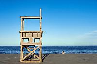 Lifeguard stand, Nauset Beach, Orleans, , Cape Cod, Massachusetts, USA.