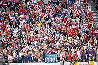 KANSAS CITY, KS - JUNE 26: US fans during a game between Panama and USMNT at Children's Mercy Park on June 26, 2019 in Kansas City, Kansas.