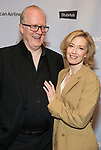 """Tracy Letts and Carrie Coon attends the Broadway Opening Night After Party for """"All My Sons"""" at The American Airlines Theatre on April 22, 2019  in New York City."""