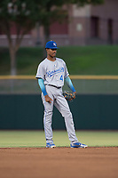 AZL Royals shortstop Maikel Garcia (4) during an Arizona League game against the AZL Giants Black at Scottsdale Stadium on August 7, 2018 in Scottsdale, Arizona. The AZL Giants Black defeated the AZL Royals by a score of 2-1. (Zachary Lucy/Four Seam Images)