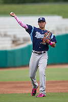Corpus Christi Hooks shortstop Carlos Correa (1) makes a throw to first base during the Texas League baseball game against the San Antonio Missions on May 10, 2015 at Nelson Wolff Stadium in San Antonio, Texas. The Missions defeated the Hooks 6-5. (Andrew Woolley/Four Seam Images)