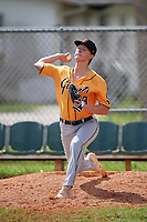 Daniel Dewey (73) during the WWBA World Championship at Terry Park on October 11, 2020 in Fort Myers, Florida.  Daniel Dewey, a resident of Murfreesboro, Tennessee who attends Rockvale HIgh School, is committed to Middle Tennessee State.  (Mike Janes/Four Seam Images)