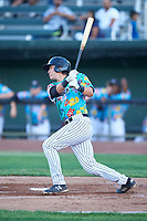 Idaho Falls Chukars Wyatt Mascarella (25) at bat during a Pioneer League game against the Missoula Osprey at Melaleuca Field on August 20, 2019 in Idaho Falls, Idaho. Idaho Falls defeated Missoula 6-3. (Zachary Lucy/Four Seam Images)