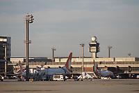 GUARULHOS, SP, 25.05.2021 - AEROPORTO-SP - Aeronaves da Companhia Aérea Gol, no Aeroporto Internacional de São Paulo, em Guarulhos, nesta terça-feira, 25. (Foto Charles Sholl/Brazil Photo Press)