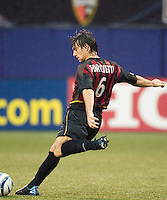 Juan Forchetti of the MetroStars. The LA Galaxy lost to the NY/NJ MetroStars 1-0 on 6/21/03 at Giant's Stadium, NJ..