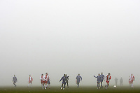 The East London Sunday League match between Hackney Downs and Prospect takes place in thick fog at Hackney Marshes - 23/12/07 - MANDATORY CREDIT: Gavin Ellis/TGSPHOTO - Self billing applies where appropriate - Tel: 0845 094 6026
