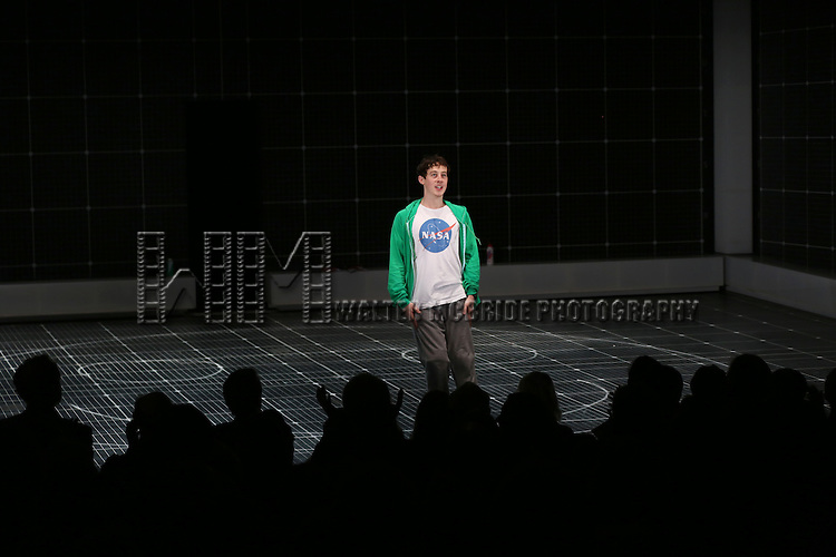Alex Sharp during the Broadway Opening Night Performance Curtain Call for 'The Curious Incident of the Dog in the Night-Time'  at the Barrymore Theatre on October 5, 2014 in New York City.