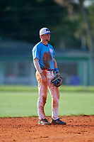 Jonathan Vastine (9) during the WWBA World Championship at Terry Park on October 10, 2020 in Fort Myers, Florida.  Jonathan Vastine, a resident of Bartow, Florida who attends Bartow Senior High School, is committed to Vanderbilt.  (Mike Janes/Four Seam Images)