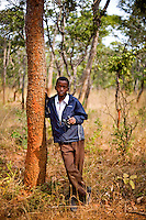 """13 year old Chiwila Mulenga from Chalilo school in Sereje district, on his first safari in Kasanka National Park. """"They [the animals] are very free and I didn't expect them to be as free. I thought they would be un-free.""""  Local schools and women's groups are regularly brought into Kasanka, which is unique in the country and unusual in Africa as it is privately managed and owned by a trust. People are able to see animals flourishing in land which was once free reign for poachers. Combined with anti-poaching scouts, the education programme is on the frontline of conservation methods in the park, showing local people wild animals in their natural habitat."""