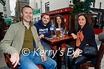 Enjoying the evening in the Fiddler on Friday, l to r: Shane Turner, Mike and Nicole Gaynor and Catriona Turner.