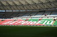 Rio de Janeiro (RJ), 12/07/2020 -Fluminense-Flamengo - Mosaico do Fluminense,durante partida contra o Flamengo,válida pela final do Campeonato Carioca,realizada no Estádio Jornalista Mário Filho (Maracanã), na zona norte do Rio de Janeiro,neste domingo (12).