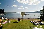 People enjoying recreational activities at Diamond Lake Resort, Southern Oregon