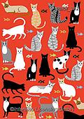 Kate, GIFT WRAPS, GESCHENKPAPIER, PAPEL DE REGALO, paintings+++++,GBKM382,#gp#, EVERYDAY ,cat,cats