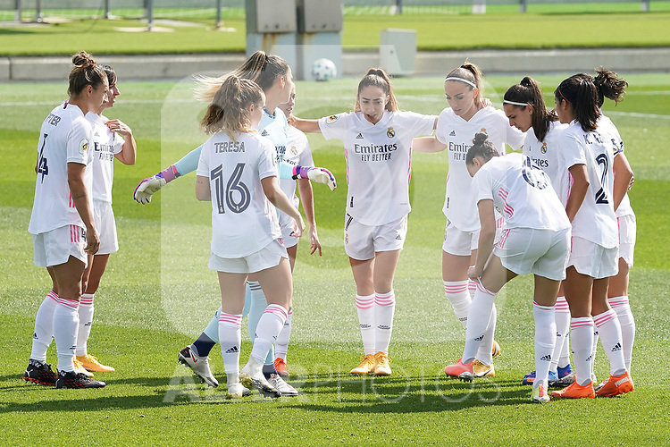 First official match and first classic in the history of women's Real Madrid.<br /> Real Madrid's players during Spanish Female League match. October 4,2020. (ALTERPHOTOS/Acero)