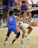 Arkansas Tuesday, Feb. 16, 2021, Florida during the Hogs' 75-64 win in Bud Walton Arena. Visit nwaonline.com/210217Daily/ for today's photo gallery. <br /> (NWA Democrat-Gazette/Andy Shupe)