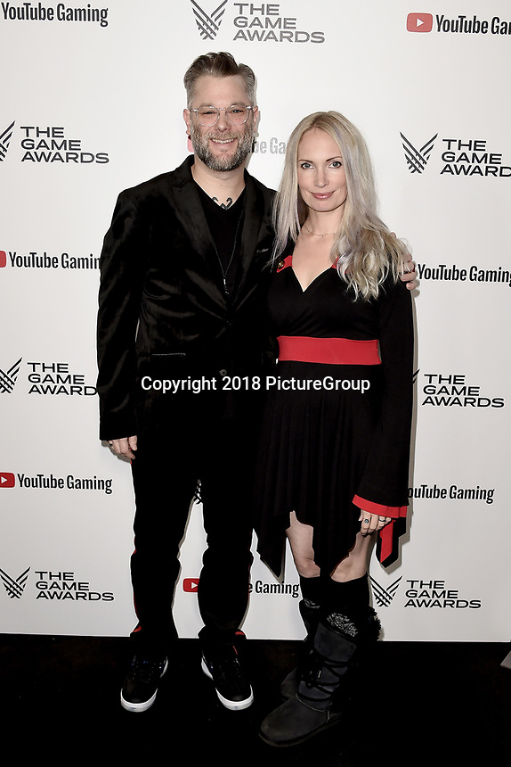 LOS ANGELES - DECEMBER 6: (L-R) Cory Barlog and Anna Barlog attend the 2018 Game Awards at the Microsoft Theater on December 6, 2018 in Los Angeles, California. (Photo by Scott Kirkland/PictureGroup)