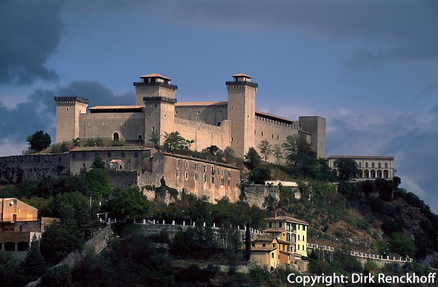 Burg Rocca Albornoziana in Spoleto, Umbrien, Italien