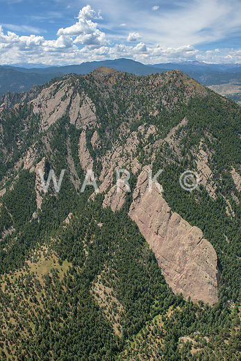 South part of the Flatirons hillside in Boulder Colorado.  Sept 2, 2015