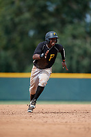 Pittsburgh Pirates Rodolfo Castro (6) runs the bases during an Instructional League intrasquad black and gold game on October 6, 2017 at Pirate City in Bradenton, Florida.  (Mike Janes/Four Seam Images)