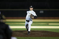 Wake Forest Demon Deacons relief pitcher Cole McNamee (17) in action against the Louisville Cardinals at David F. Couch Ballpark on March 6, 2020 in  Winston-Salem, North Carolina. The Cardinals defeated the Demon Deacons 4-1. (Brian Westerholt/Four Seam Images)