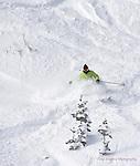 Wolf Creek Ski Instructor Dana Clark ripping up deep December powder