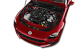 Car Stock 2018 Fiat 124-Spider 1.4-Lusso 2 Door Convertible Engine  high angle detail view