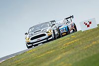 Will Moore & Matt Cowley, Ford Mustang GT4, Academy Motorsport with Kelvin Fletcher & Martin Plowman, Bentley Continental GT3, JRM Racing right on their tail during the British GT & F3 Championship on 10th July 2021