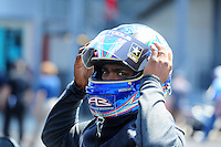 Apr. 15, 2012; Concord, NC, USA: NHRA top fuel dragster driver Antron Brown during eliminations for the Four Wide Nationals at zMax Dragway. Mandatory Credit: Mark J. Rebilas-