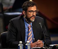 Witness Professor Saikrishna Prakash makes remarks before the Senate Judiciary committee as it continues its hearing on the confirmation of Judge Amy Coney Barrett to the Supreme Court, in Washington, DC on October 15, 2020.<br /> Credit: Bill O'Leary / Pool via CNP /MediaPunch