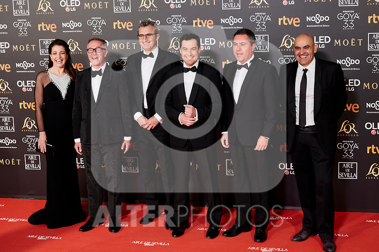 Juanma Moreno attends to 33rd Goya Awards at Fibes - Conference and Exhibition  in Seville, Spain. February 02, 2019. (ALTERPHOTOS/A. Perez Meca)