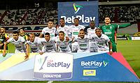 MANIZALES-COLOMBIA, 24–09-2021: Jugadores de Once Caldas posan para una foto, antes de partido adelantado de la fecha 11 entre Once Caldas y Alianza Petrolera, por la Liga BetPlay DIMAYOR II 2021, jugado en el estadio Palogrande de la ciudad de Manizales. / Players of Once Caldas pose for a photo, prior a match ahead of 11th date between Once Caldas and Alianza Petrolera, for the BetPlay DIMAYOR II 2021 League played at the Palogrande Stadium in Manizales city. / Photo: VizzorImage / JJ Bonilla / Cont.