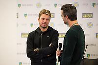 Rotterdam, Netherlands, 10 februari, 2019, Ahoy, Tennis, ABNAMROWTT, STAN WAWRINKA (SUI) + JAN KOOIJMAN  Photo: Henk Koster/tennisimages.com